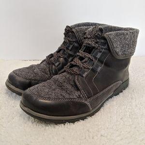 Chaco Black Barbary Fold Down Boots